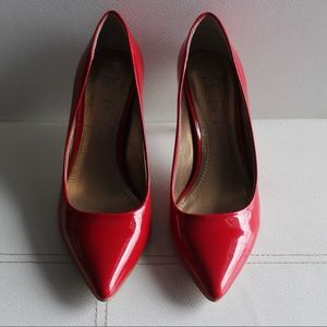 BCBG Paris Size 6.5 Patent Leather Red Pumps